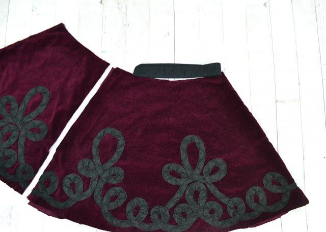 cut skirt smaller