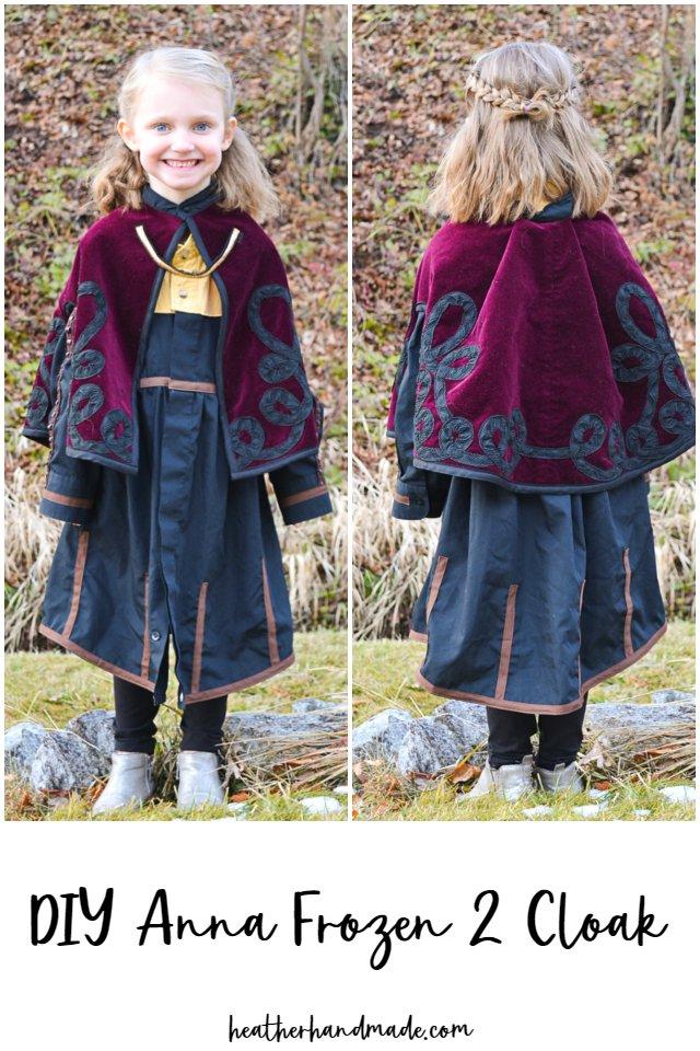 diy anna frozen 2 cloak
