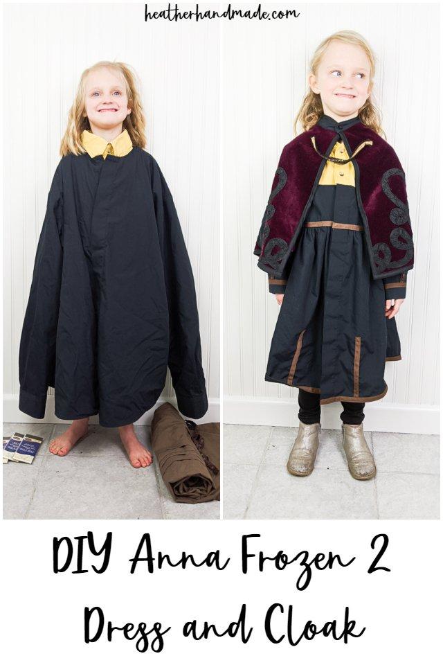 diy anna frozen 2 dress and cloak