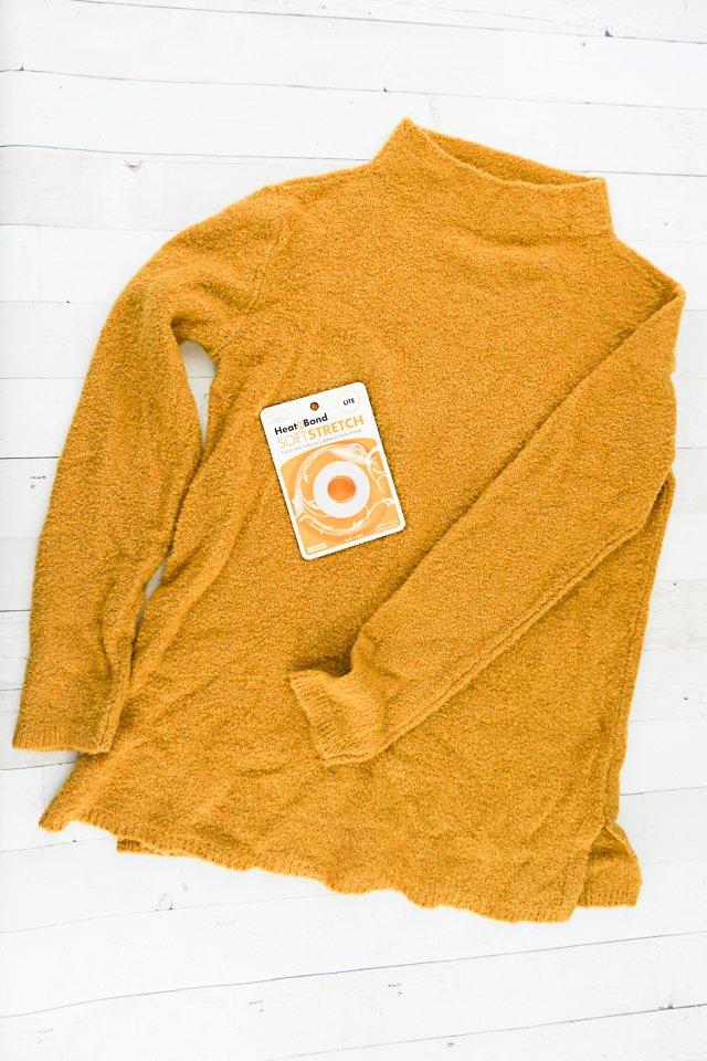 shorten sweater supplies