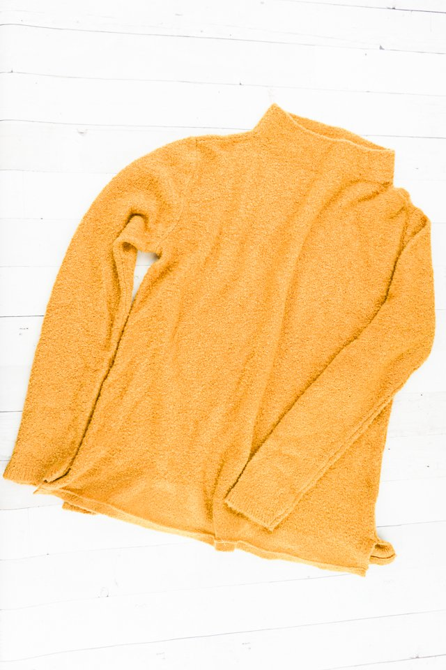 shorten sweater from the bottom