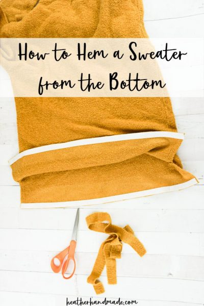 shorten a sweater from the bottom