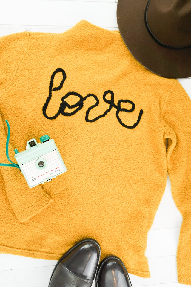 diy love applique tutorial