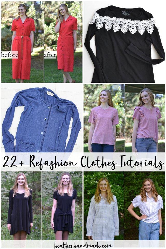 22 Ways to Refashion Clothes Tutorials