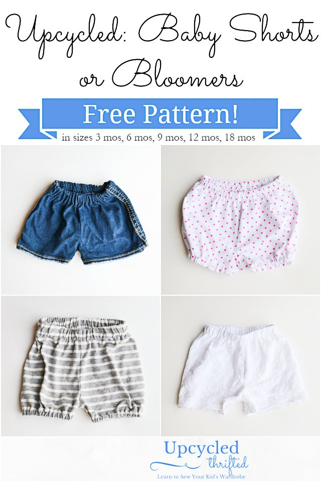 Free Baby Shorts Sewing Pattern + Bloomers