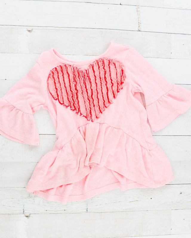 wash heart chenille
