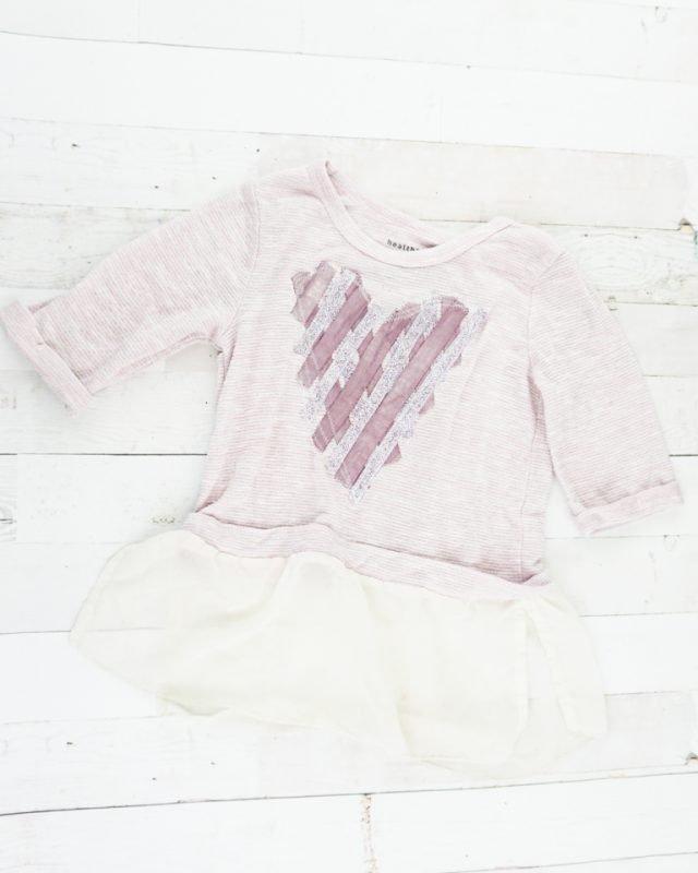 sew around heart shape
