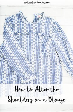 how to alter the shoulder on a blouse