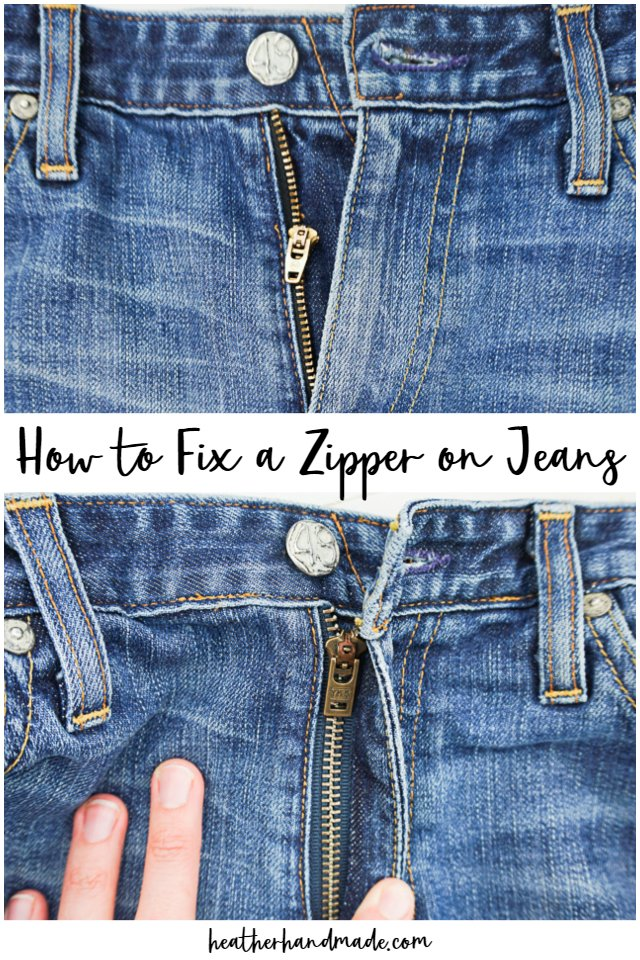 how to fix a zipper on jeans