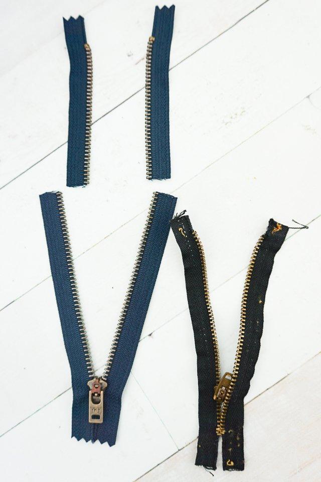 cut zipper same size