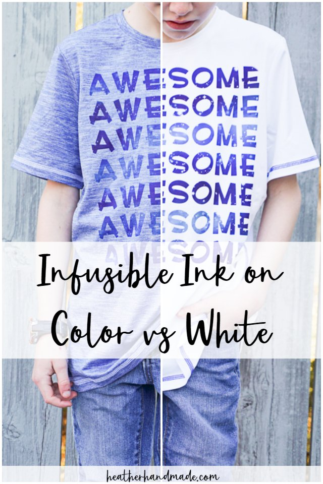infusible ink on color vs white