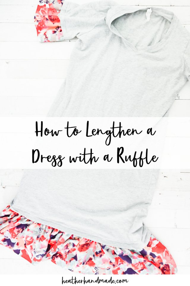 how to lengthen a dress with a ruffle