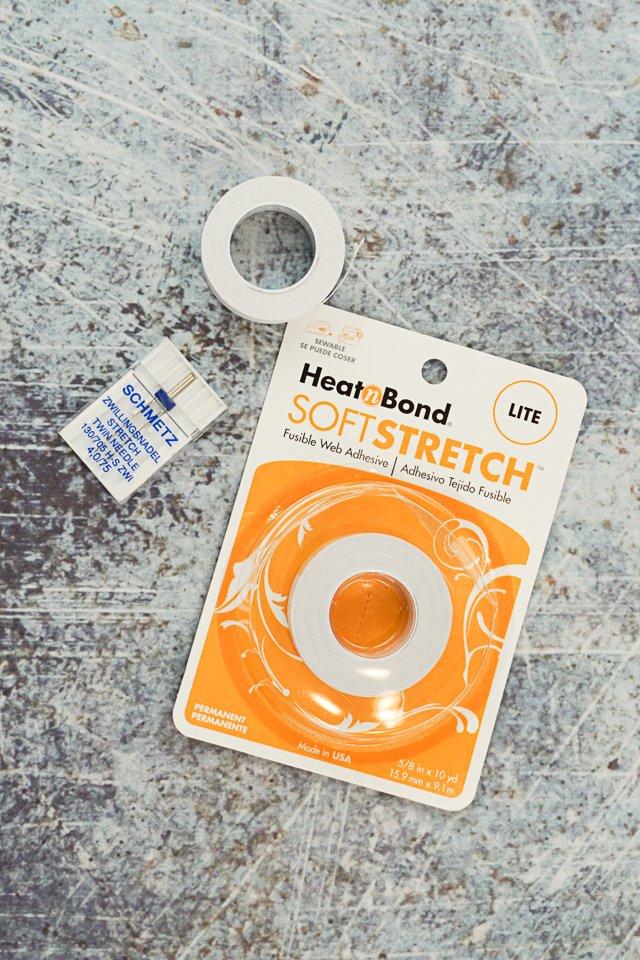 twin needle soft stretch hem tape