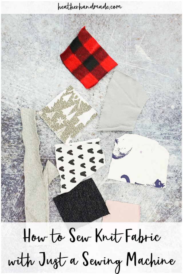 sew knit fabric with sewing machine