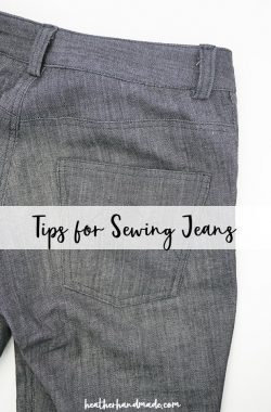 tips for sewing jeans