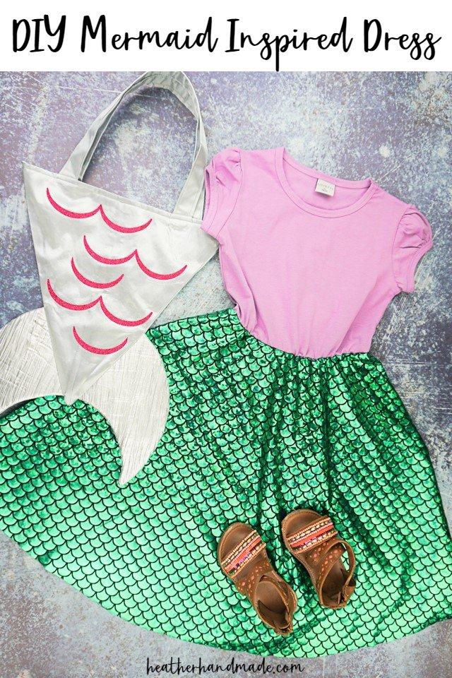 Easy DIY Mermaid Inspired Dress