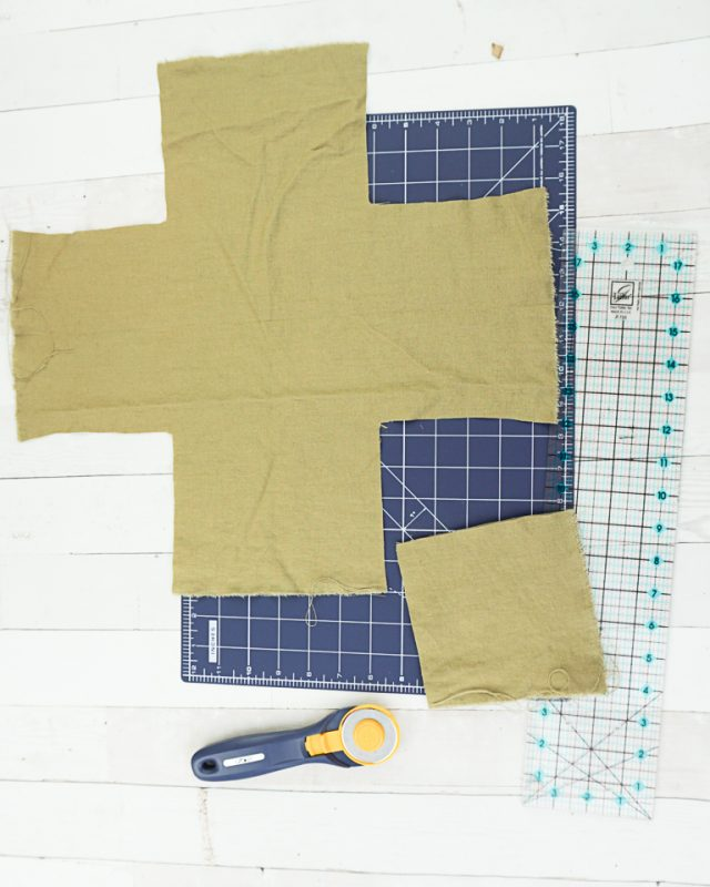 cut outer fabric
