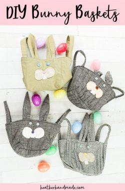 diy bunny baskets easter