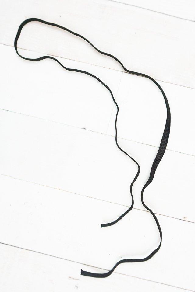 sew elastic into loop