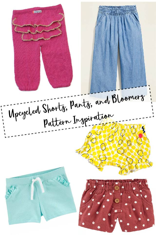 Inspiration for the Upcycled Shorts, Pants, and Bloomers Pattern