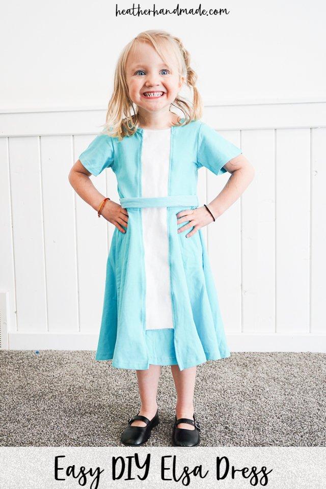 Easy DIY Elsa Dress