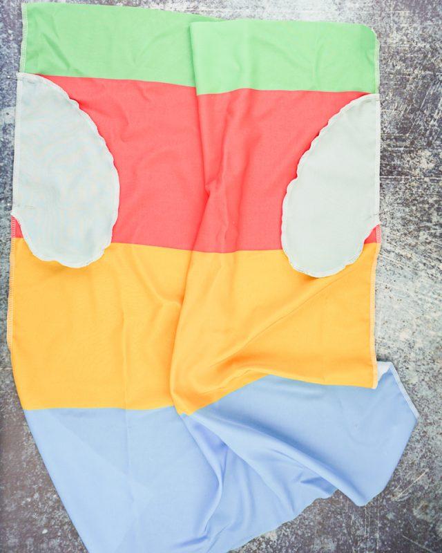 sew pockets onto the skirt