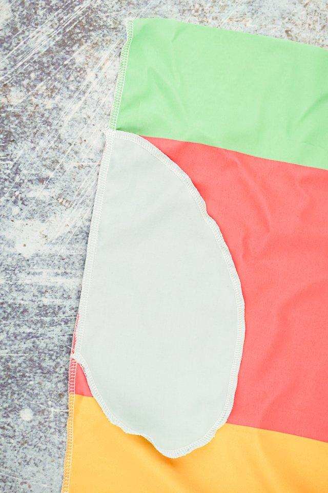 sew pockets onto skirt
