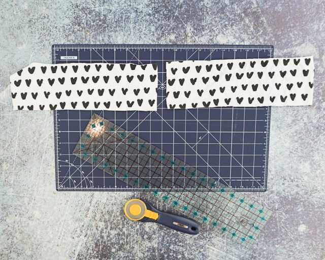cut knit fabric scraps