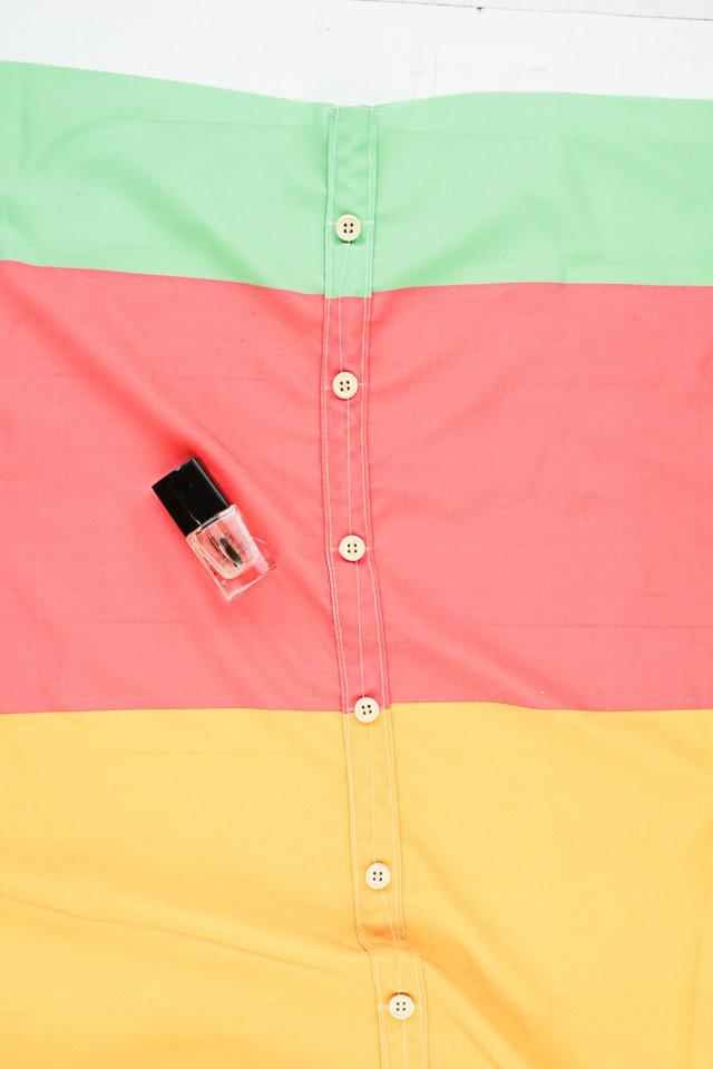 sew buttons finish clear nail polish