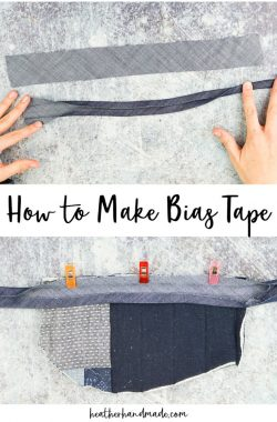 How to Make Bias Tape and Bias Binding