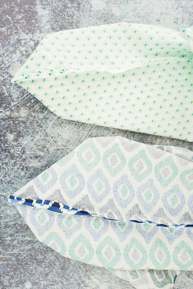 sew corner on bag