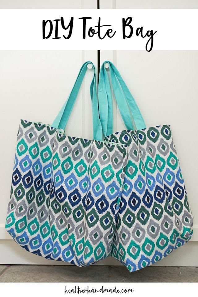 DIY Tote Bag with Fold Up Pocket