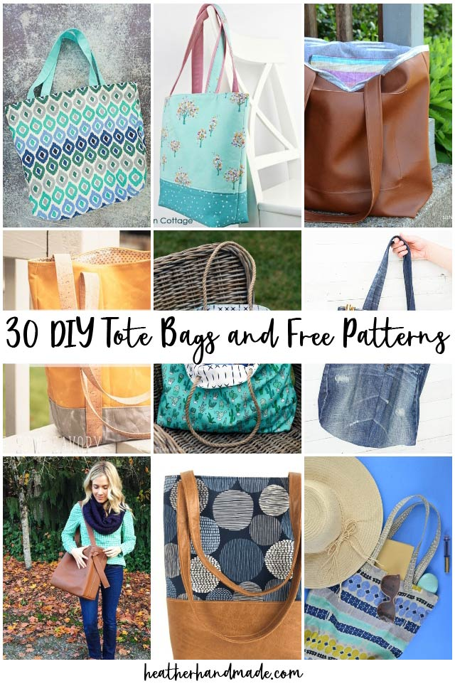 32 DIY Tote Bags and Free Patterns