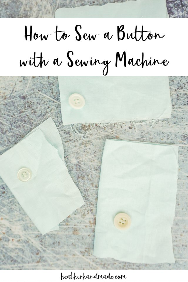 how to sew a button with a sewing machine