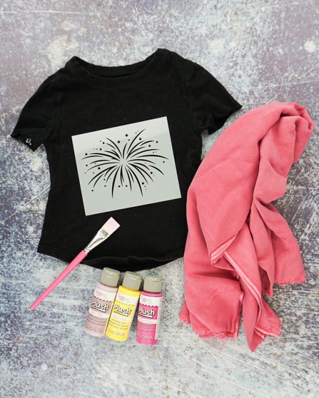 firework t-shirt supplies