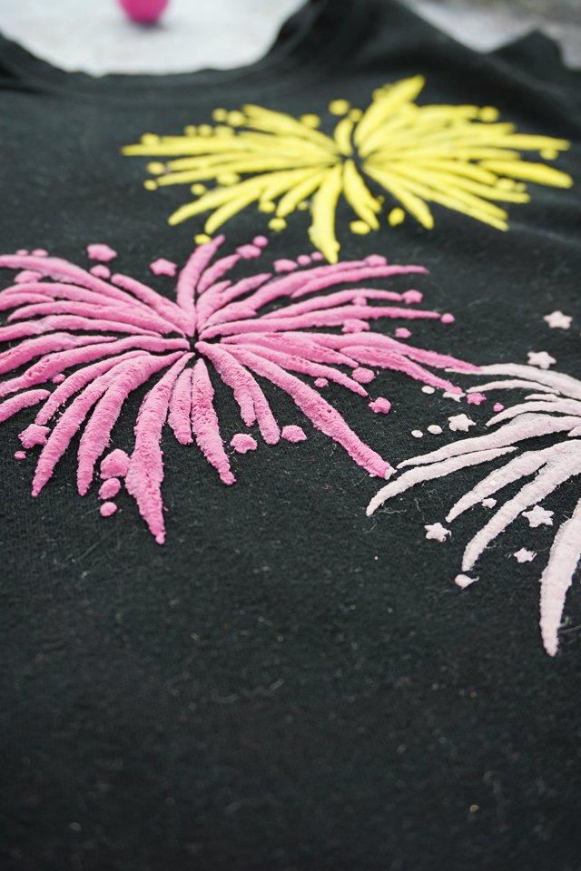 raised plush fabric paint