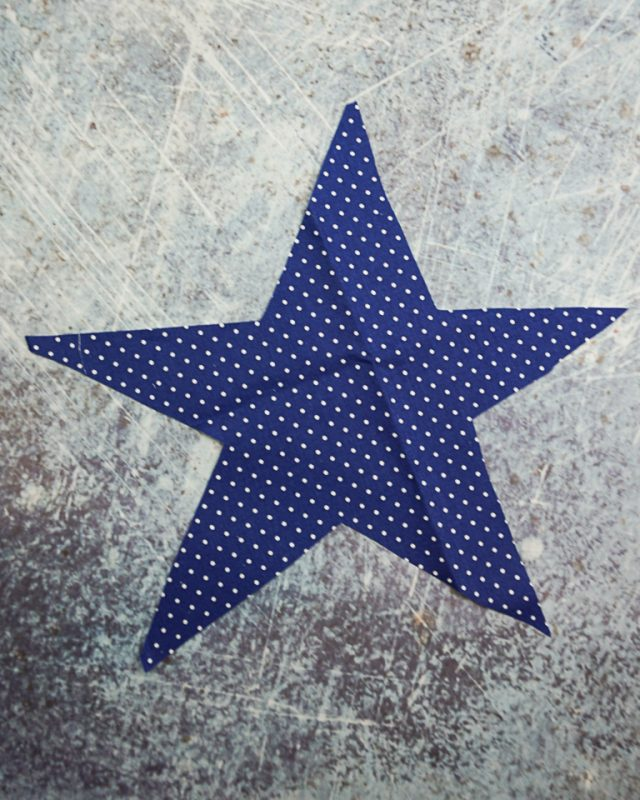 cut out smaller blue star