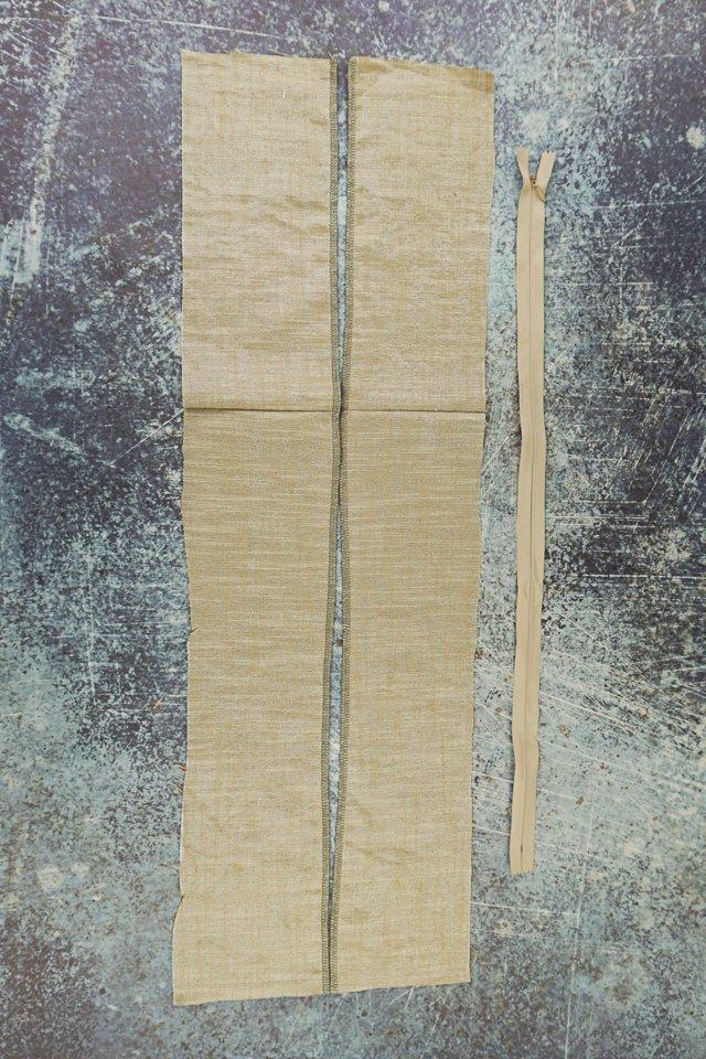 finish raw edges where zipper will be sewn