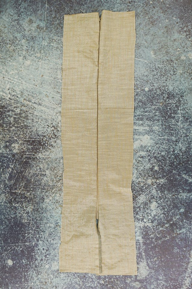 close zipper and check seam