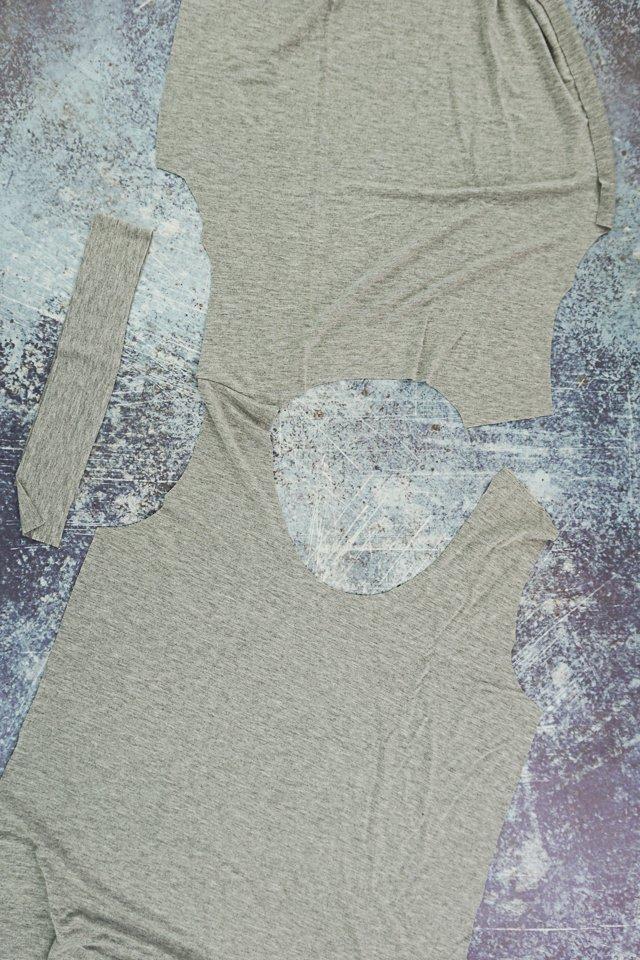 sew neckband flat method