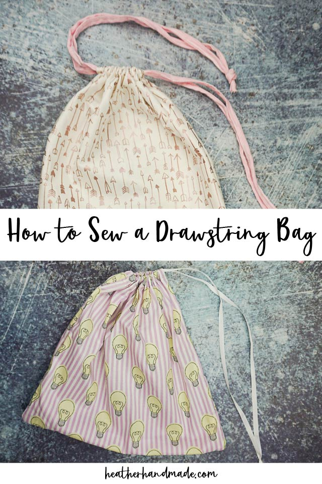 how to sew a drawstring bag