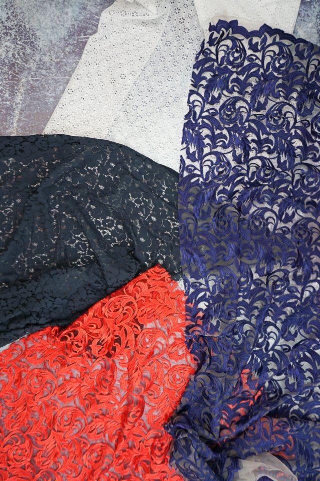 how to sew lace baric
