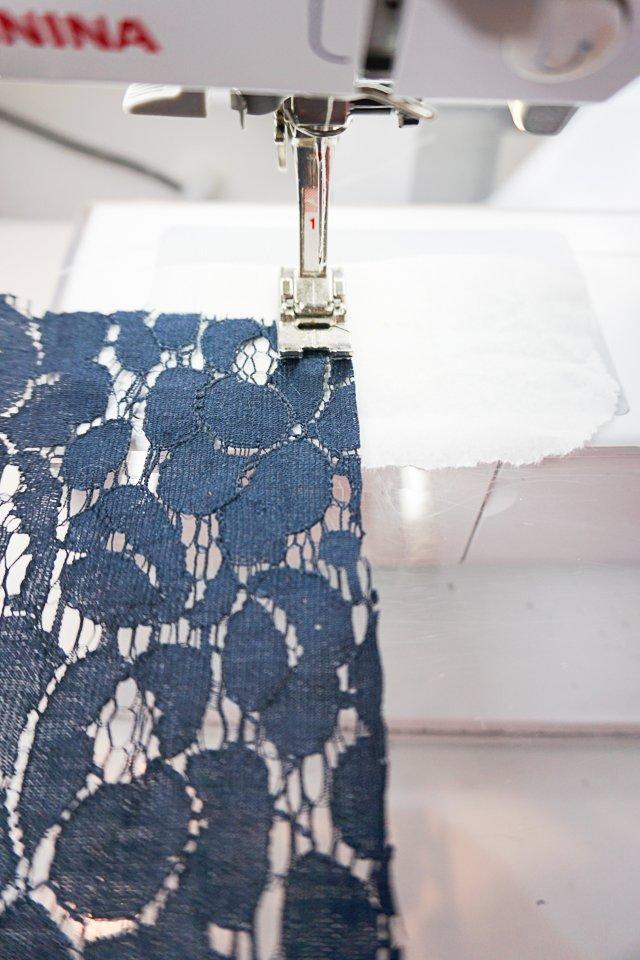 sew with tissue thread