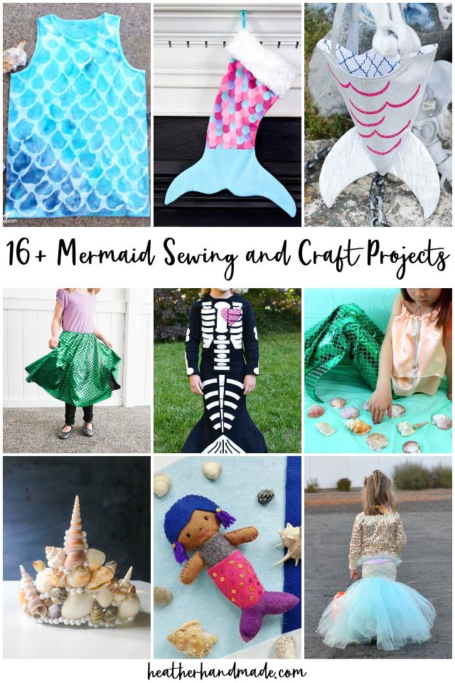 19 DIY Mermaid Sewing and Craft Projects
