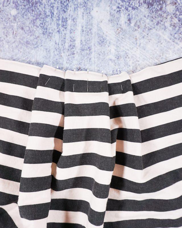 pin pleats along top