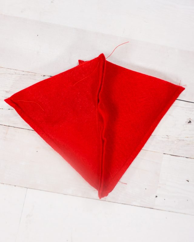 sew four triangles together