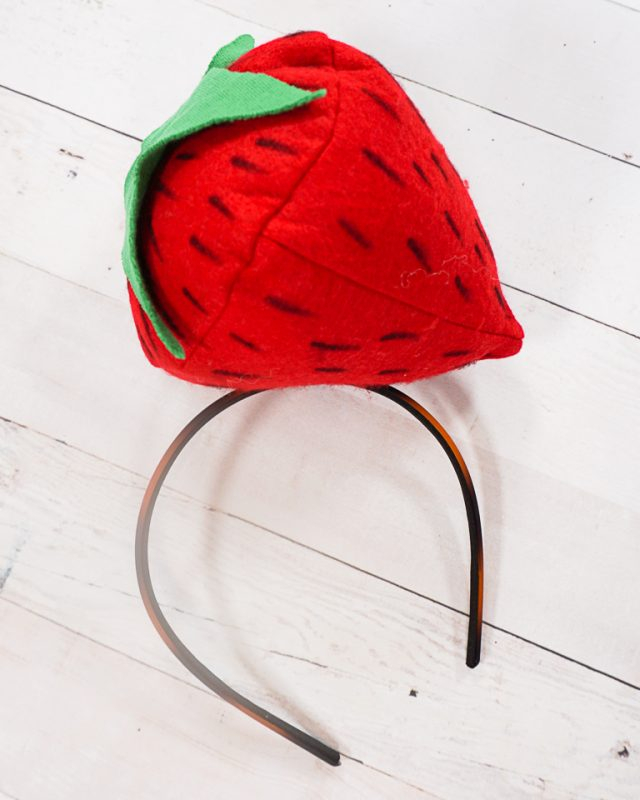 diy strawberry headband