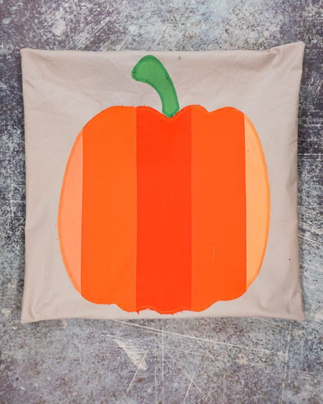 sew fabric into pillow