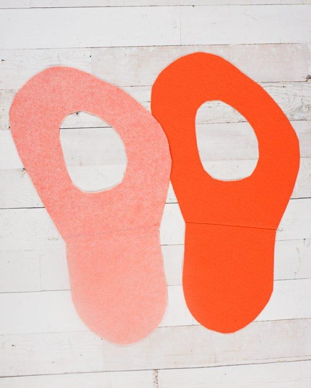 interface the back of the orange felt