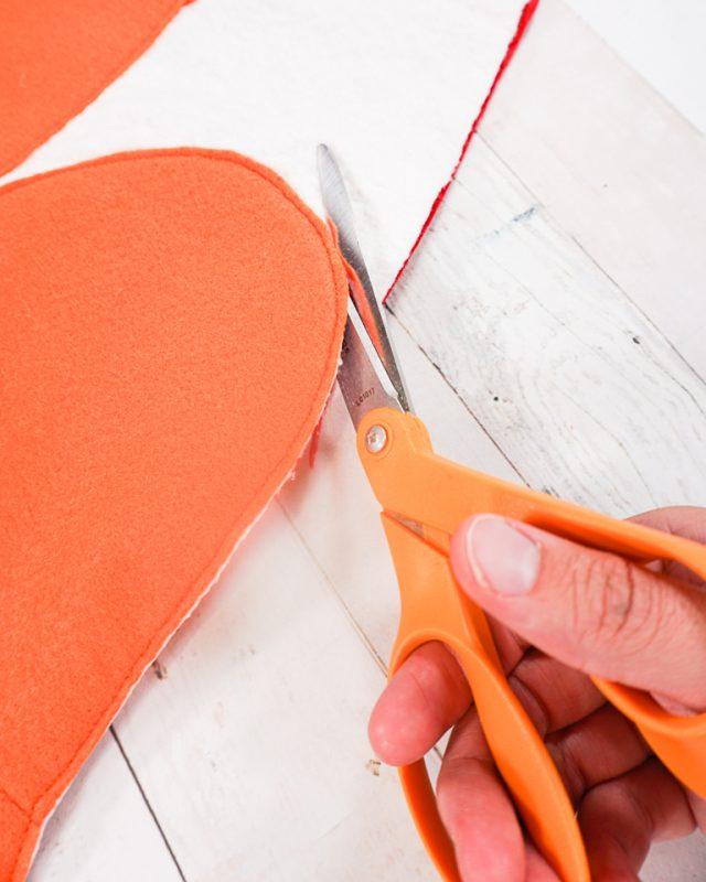 cut around the scissor shape